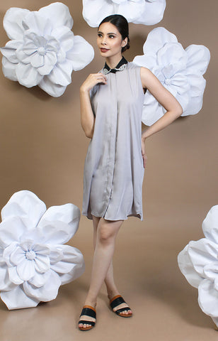 Thyia Shirt Dress -Gray