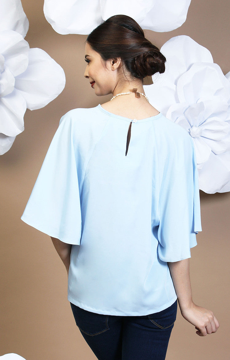 Calla Blouse -Baby Blue