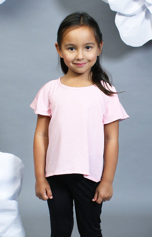 Little Lady's Calla Blouse -Pink