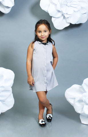 Little Lady's Thyia Shirt Dress -Gray