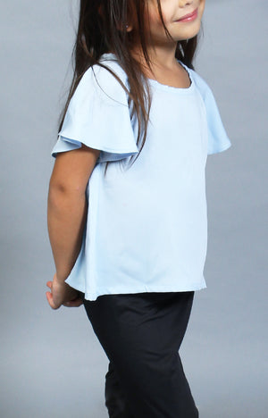 Little Lady's Calla Blouse -Baby Blue