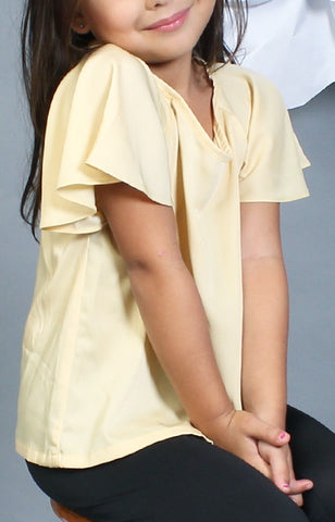 Little Lady's Calla Blouse -Yellow