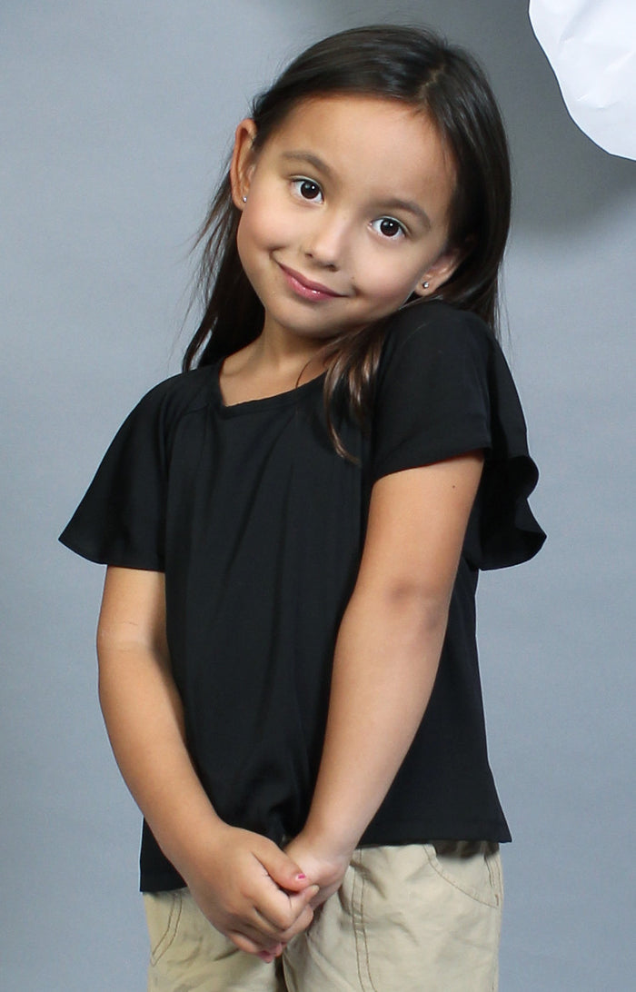 Little Lady's Calla Blouse -Black