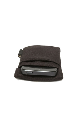 Cote&Ciel Fabric Pouch for iPhone - Black Mulberry