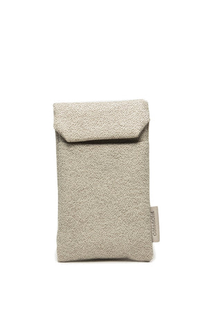 Fabric Pouch for iPhone - White Pebble