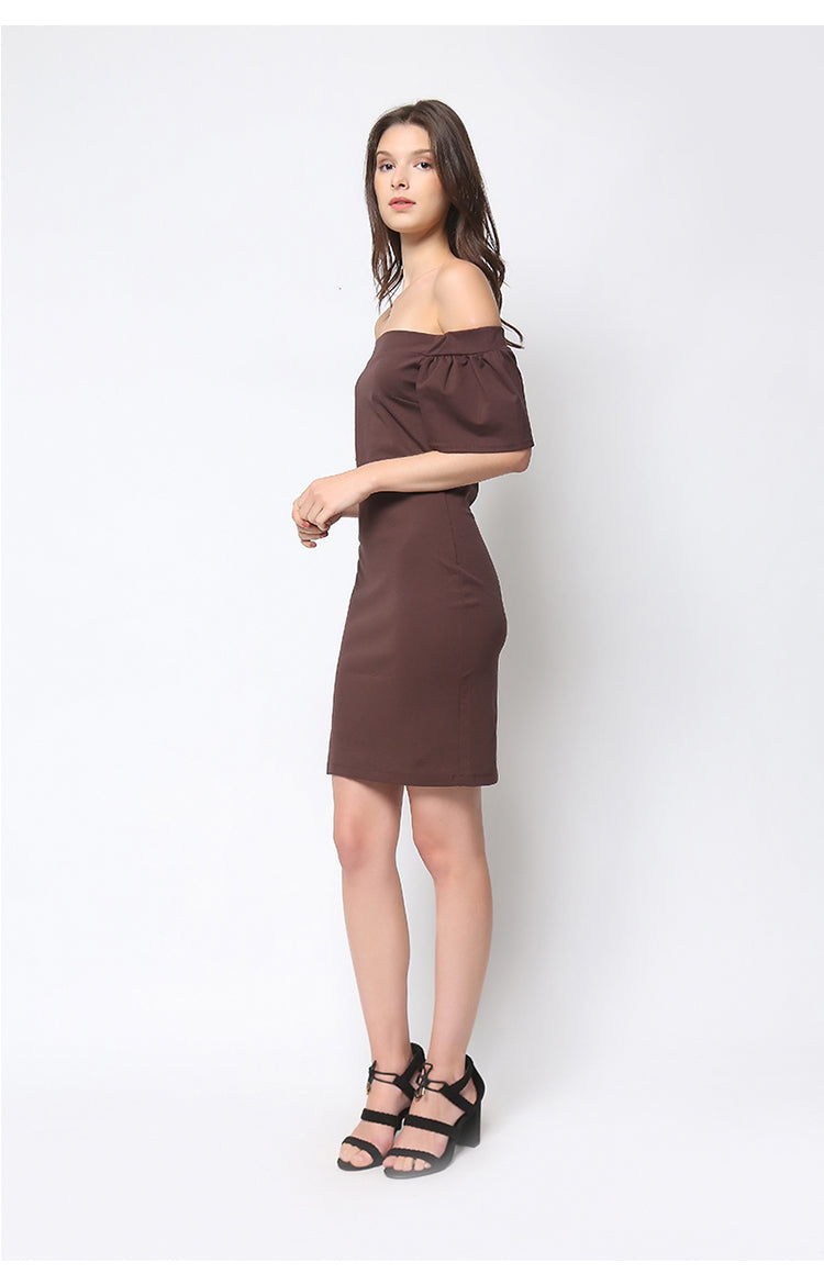 Tiffany Dress in Brown