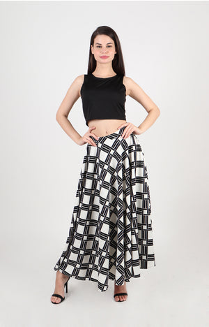 Osaka Crop Top And Maxi Skirt Set