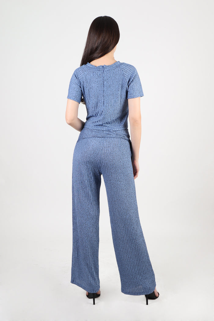 Jennifer Top and Pants Set in Blue