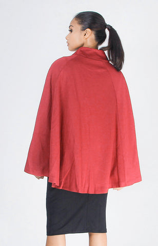 London Cape Top in Red