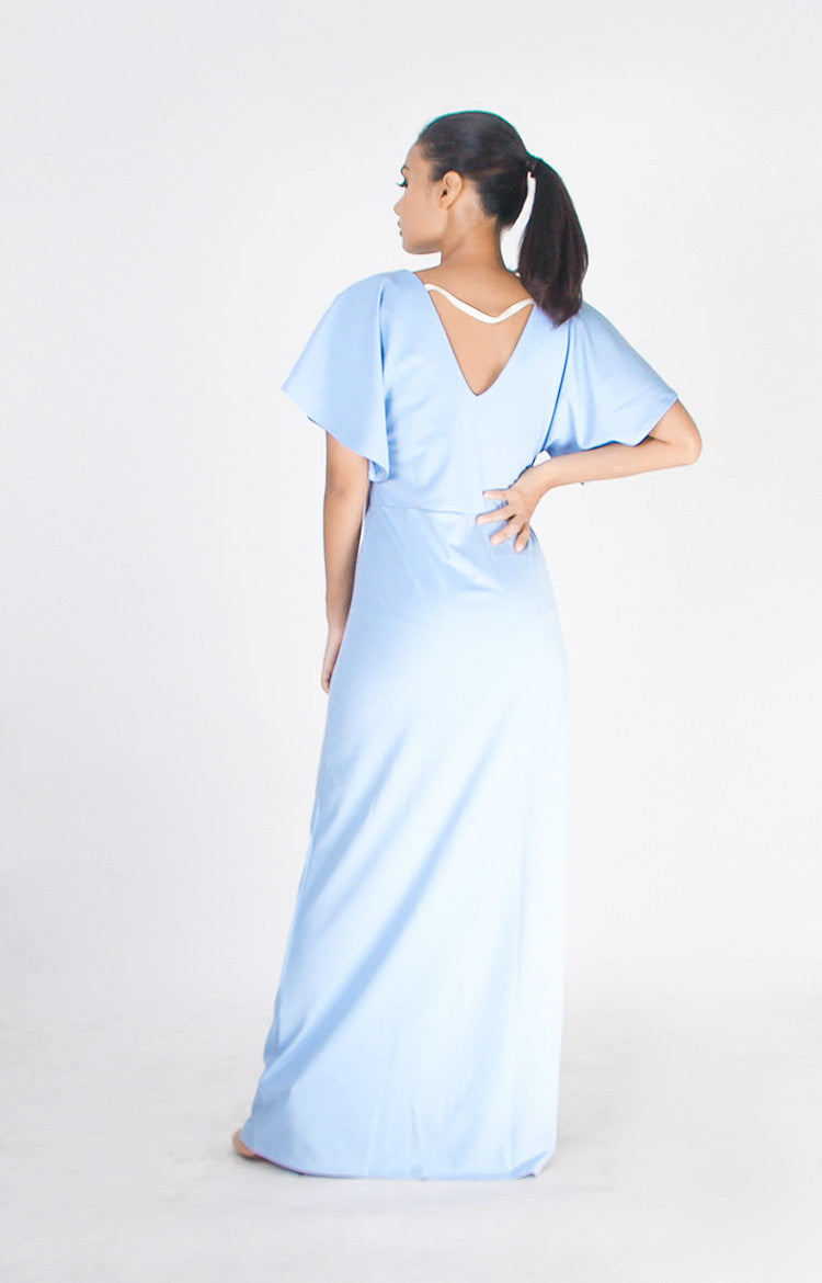 Tamara Maxi Dress in Powder Blue