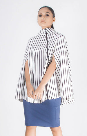 London Cape Top in Stripes
