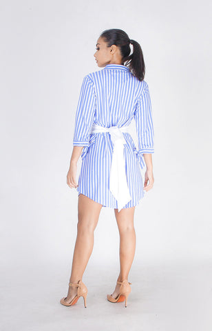 Boyfriend Dress in Sky Blue