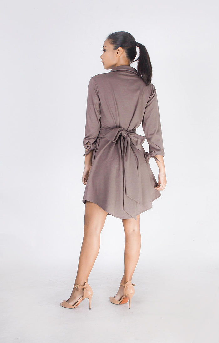 Boyfriend Dress in Olive