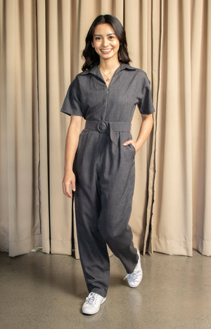 Michelle Jumpsuit in Dark Grey