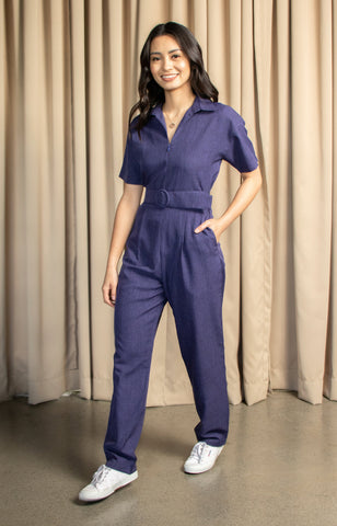 Michelle Jumpsuit in Navy Blue