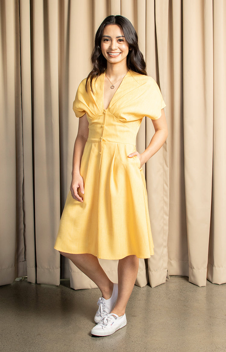 Mae Dress in Yellow