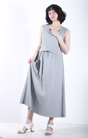 Sleeveless Knit Maxi Dress in Grey