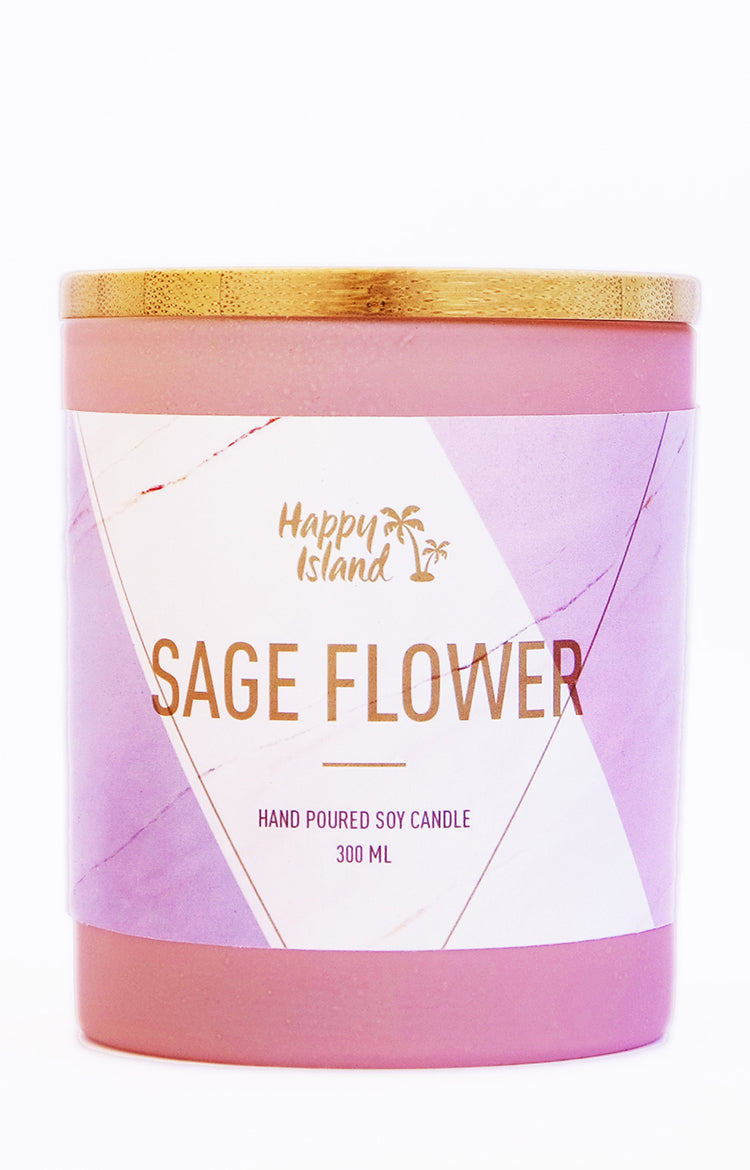 Scented Soy Candle - Sage Flower 10 oz/ 300ML