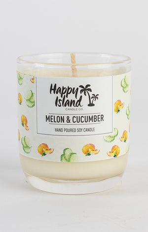 Scented Soy Candle- Melon & Cucumber 8oz/ 240 ML
