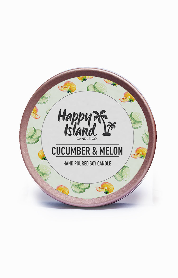Scented Soy Candle- Melon & Cucumber 2 oz/ 60 ML