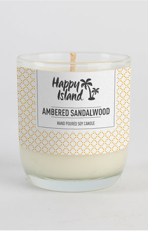 Scented Soy Candle- Ambered Sandalwood 8 oz/ 240 ML