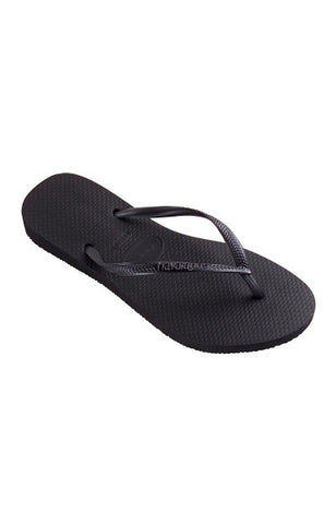 Slim - Black Slippers