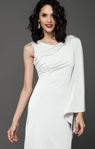NYE ASSYMETRICAL DRESS - CREAM