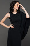 NYE Assymetrical Dress - Black