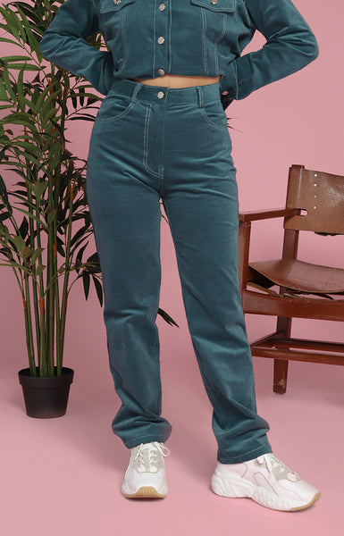 Ann Pants in Teal