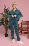 Ida Jacket and Pants Set in Teal