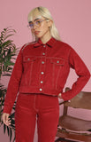 Ida Jacket and Pants Set in Red