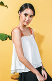 Layered Flounce Top -White