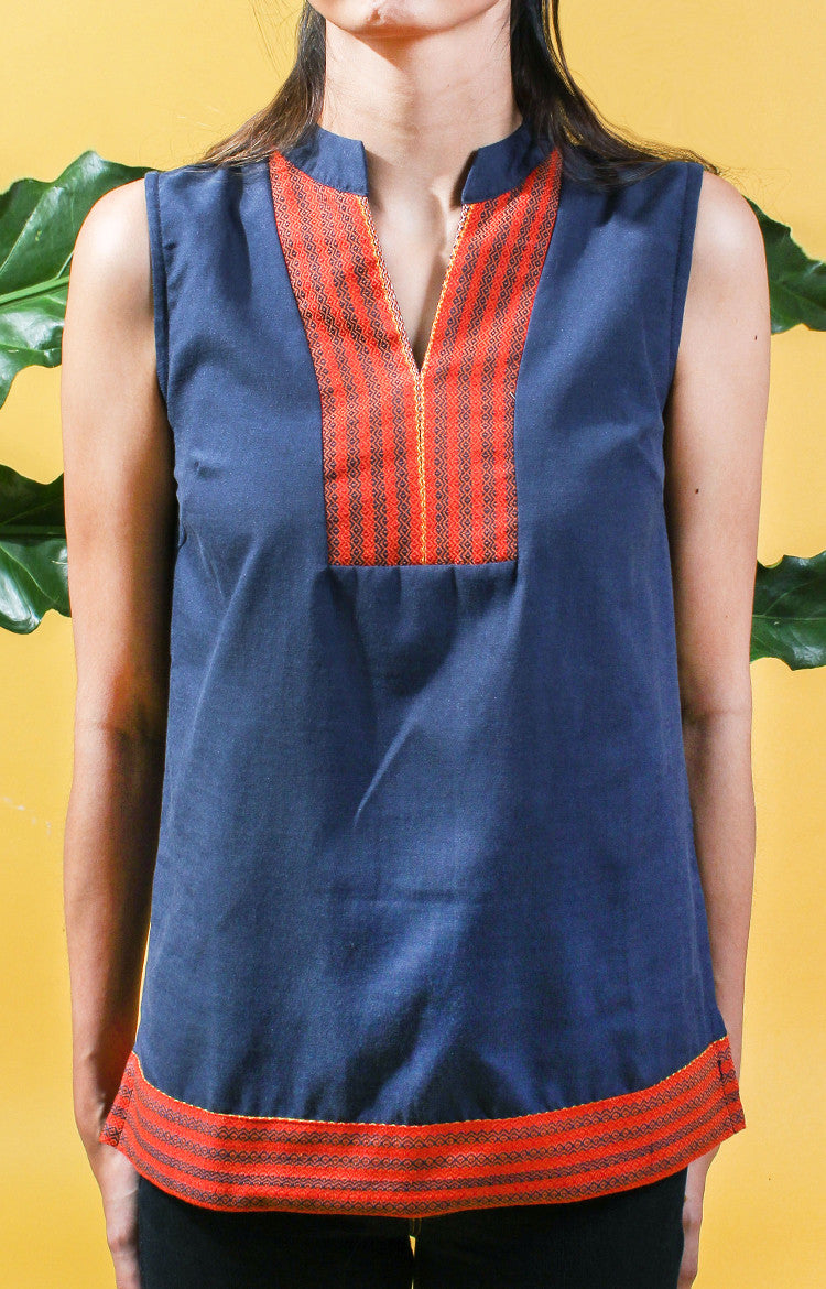 Sleeveless Tunic -Navy