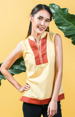 Sleeveless Tunic -Yellow