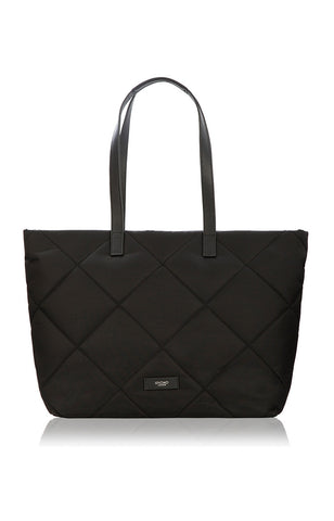 Knomo Porchester Large Zip Shoulder Laptop Tote 15 - Black