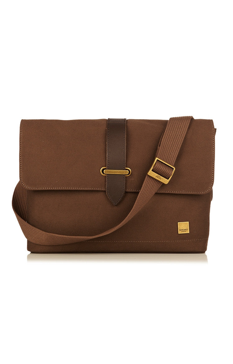 Knomo Troon Canvas Messenger Bag - Sand