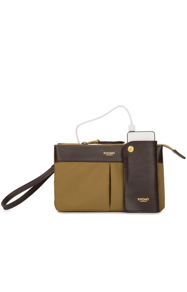 Knomo Dering Charging Power Purse (3000 mAh) - Antique Bronze