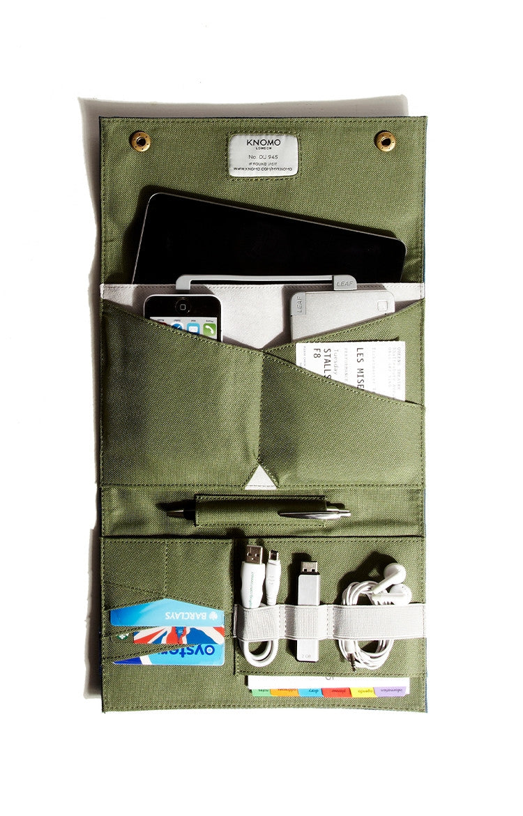 Knomo Knomad Air Portable Organiser 8 - Olive Green