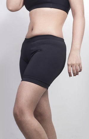 "Womanly Ladies Compression Shorts 5"" Black"