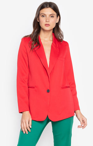 Carol Workwear Jacket Red