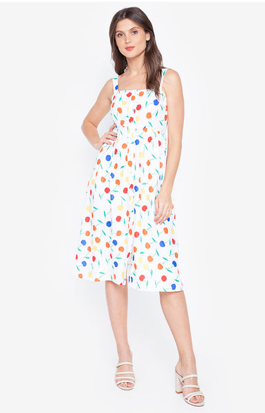 Cherry Spaghetti Strap Fashion Summer Dress