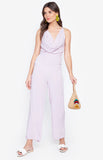 Summer High Waist Jumpsuit Beach Wear Light Violet