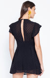 Deep V Neck Solid Color Slimfit Jumpsuit Dress Black