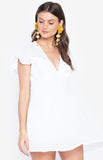 Deep V Neck Solid Color Slimfit Jumpsuit Dress White