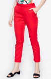 Olive Office Pants Red