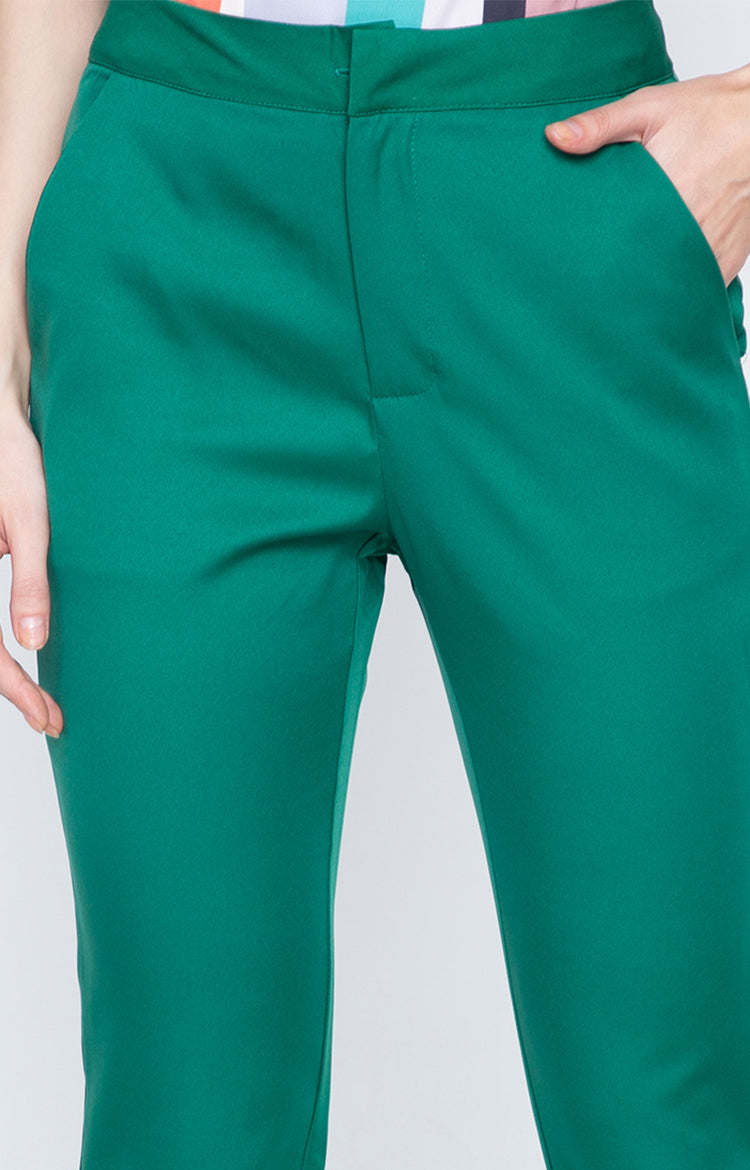 Olive Office Pants Green