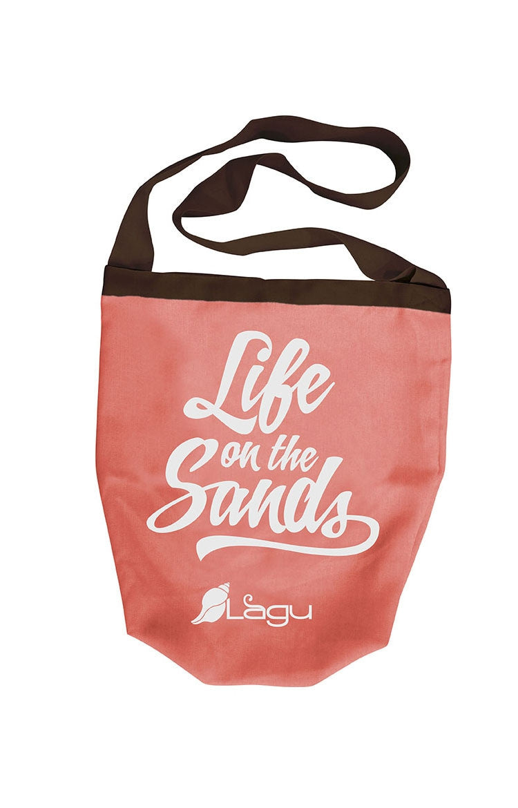 Life on The Sands Beach Bag - Naranja