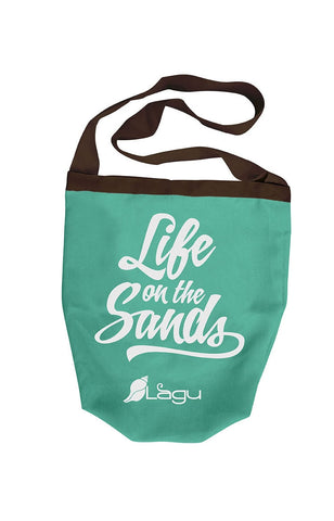 Life on The Sands Beach Bag - Aguamarino