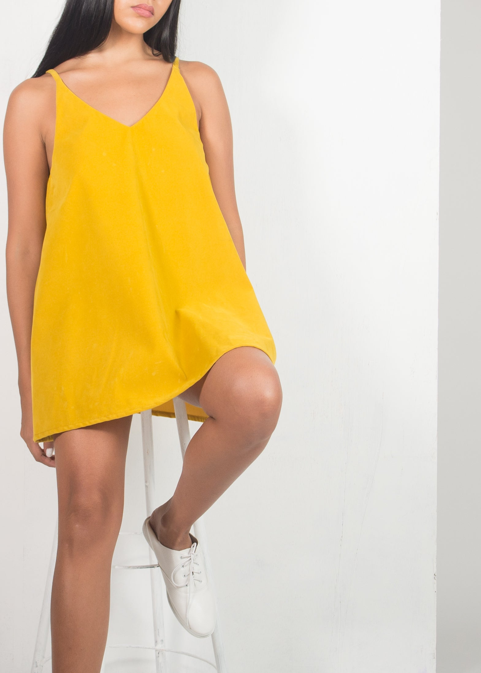 Classy Tank Top Uniform- Long in Yellow