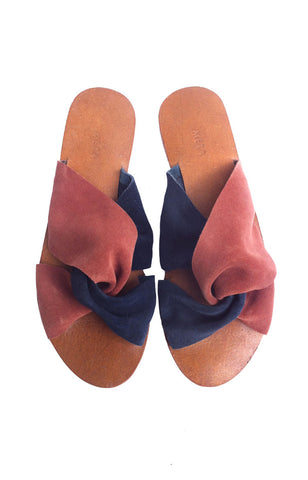 Meta Vivienne Slip On - Rust & Navy